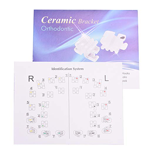 Annhua Dental Orthodontic Ceramic Brackets,Monocrystalline Sapphire Brackets Brace Hooks3 0.22 Roth