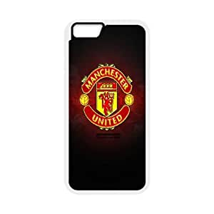Manchester United Logo iPhone 6 Plus 5.5 Inch Cell Phone Case White toy pxf005_5734340