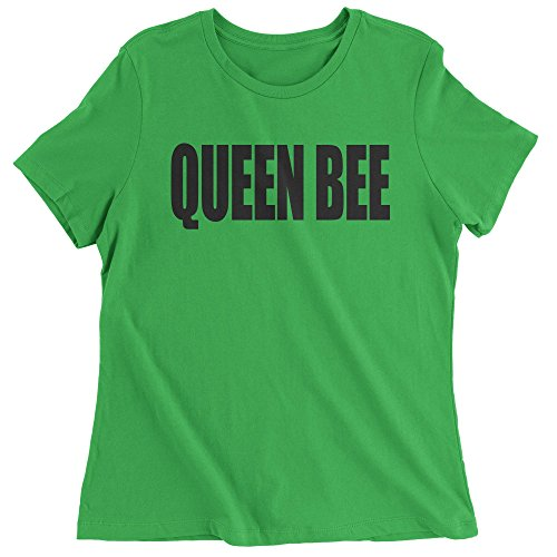 - Expression Tees Womens Queen Bee T-Shirt Small Kelly Green