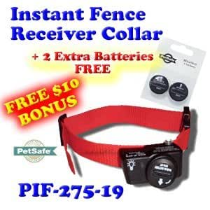 """PetSafe PIF-275-19 Wireless Fence Dog Collar with 2 Free Batteries, 10 x 9 x 4"""""""