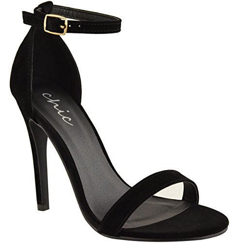 Fashion Thirsty Womens Strappy Stiletto High Heel Sandals Ankle Strap Cuff Peep Toe Shoe Size 10