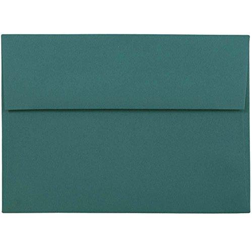- JAM PAPER A7 Premium Invitation Envelopes - 5 1/4 x 7 1/4 - Teal Green - 50/Pack