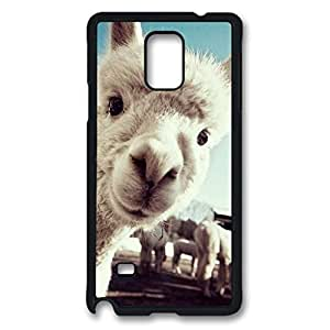 Animal Custom Back Phone Case for Samsung Galaxy Note 4 PC Material Black -1210040