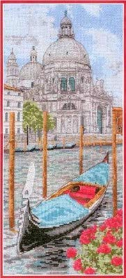 St. Maria Counted Cross Stitch Egyptian Cotton Floss,90x200 Stitch 27x47cm Venice Scenery Counted Cotton Cross - Cross Stitch Scenery