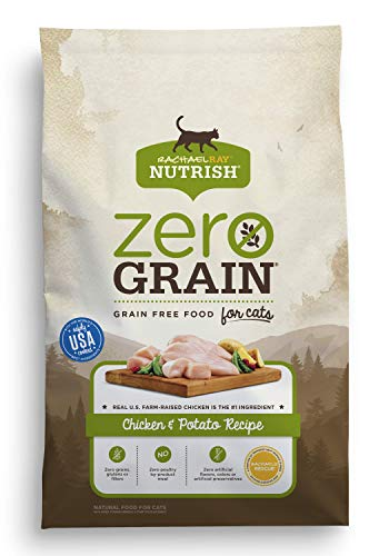 Rachael Ray Nutrish Zero Grain Natural Dry Cat Food, Chicken & Potato Recipe, Grain Free, 12 lbs by Rachael Ray Nutrish