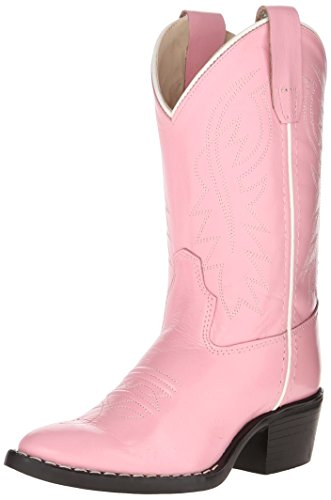 Old West Kids Boots Girl's J Toe Western Boot (Toddler/Little Kid) Pink Boot 12.5 Little Kid M