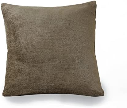Elrene Home Fashions 26865881998 Decorative Solid Velvet Regal Couch Sofa Bed Cushion Pillow, 18 x 18 , Bronze