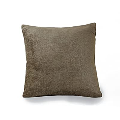 "Elrene Home Fashions 26865881998 Decorative Solid Velvet Regal Couch/Sofa/Bed Cushion Pillow, 18"" x 18"", Bronze - Easy to maintain. Machine washable or spot clean as needed. Easy care Good to go: these pillows are already filled and ready for you to put out right away What's included: one decorative pillow - living-room-soft-furnishings, living-room, decorative-pillows - 418Ho uysYL. SS400  -"