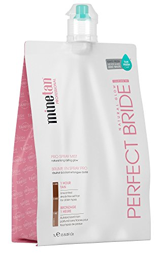 MineTan Spray Tan Solution - Perfect Bride Pro Spray Mist - Professional 1 Hour Express Tan For Brides and Bridal Parties, 33.8 fl oz (Best Tanning Solution Australia)