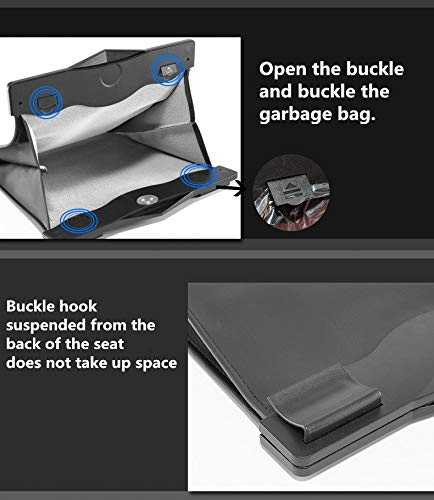 yalige Universal Traveling Portable - Car Trash Can - Collapsible Pop-up Leak Proof -car Trash bin
