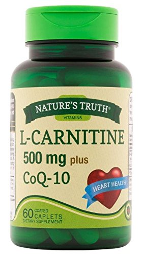 Nature's Truth L Carnitine 500 mg Plus CoQ 10 Dietary Supplement, 60 Count