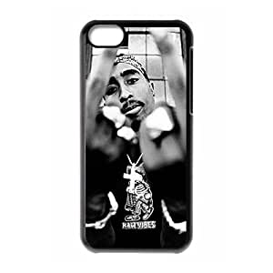 Custom Tupac New Back Cover Case for iPhone 5C CLR545