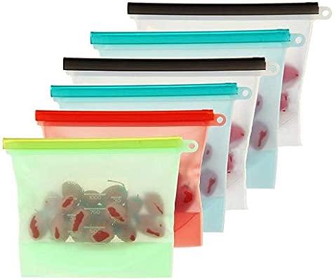 GUCIStyle-4 Colores Preservación de Alimentos Bolsas Silicona de ...