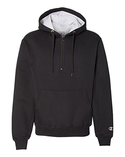 Champion 9.7 oz, 90/10 Cotton Max Quarter-Zip Hoodie Sweatsh
