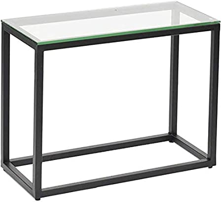 Qtqzdd Sofa Table D Appoint Verre Transparent Petite Table Basse