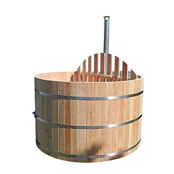 Bain Tonneau Bottich Hot Tub D 2 M Mélèze Poêle Pour Sauna