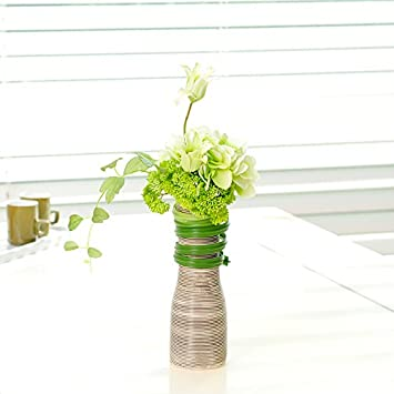 Shiqi Kunstblumen Real Touch Gefälschte Blume Geschnitzt Vase Deko