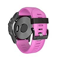 KFSO Watchband For Garmin Fenix 3,Easy Fit 26mm Width Soft Silicone Watch Strap With Screwdriver,220MM