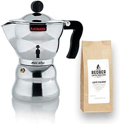 Alessi - Cafetera italiana (6 tazas, incluye 250 g de café): Amazon.es: Hogar