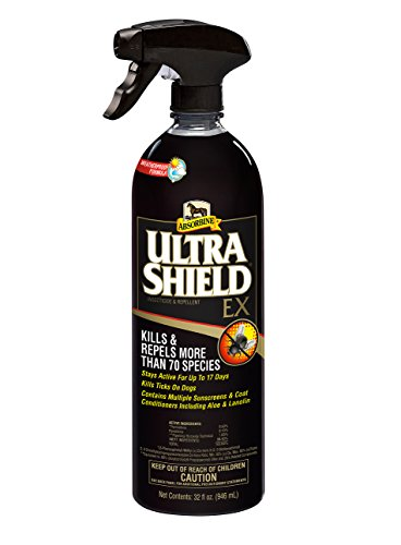 Absorbine 32 Fl Oz Ultra Shield EX Fly Spray Kills and Repels More Than 70 Species ! Weatherproof -