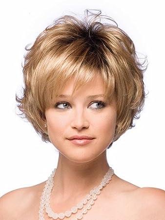 Amazon Com Yx Bob Style Synthetic Wigs For Women Short Wavy Blonde