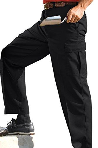 Edwards Garments Men's Blended Chino Cargo Pant - BLACK - (Mens Blended Chino)