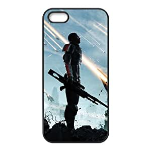 iPhone 5 5s Case Covers Negro Mass Effect 7D teléfono personalizada D5T7IX Caso