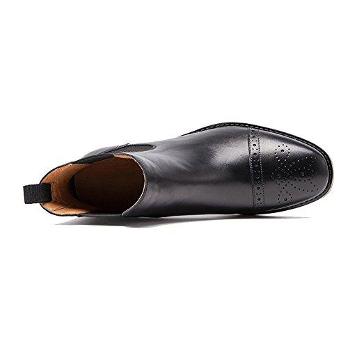 Plat Décontractée Cuir Élasticité Bottines Chaud Wdjjjnnnv Doublé De Confort 38 Dames Talon Creusent En Chaussures 4qwqXP8