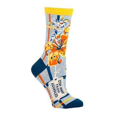 Away Socks - Blue Q Women's Novelty Crew Sock