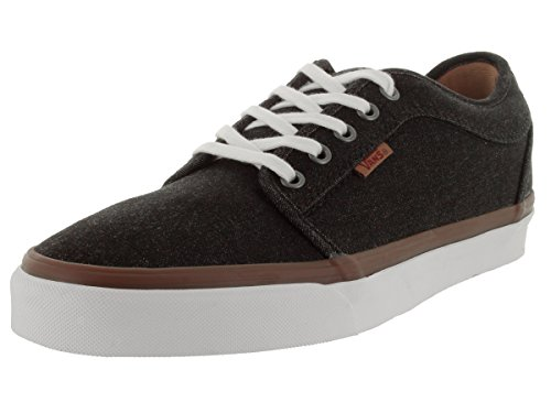Canvas Shoe Low Denim Skateboarding High Denim Ankle Men's Vans Black Chukka Yq84Tg