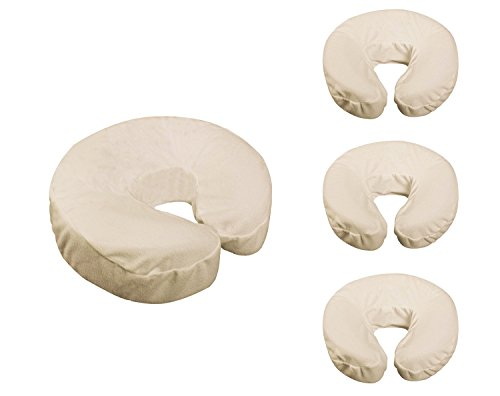 Face Fleece Rest - Master Massage Fitted Crescent Headrest Face Pillow Cradle Cover Pack of 4 ( for Face Cushion of Massage Table)