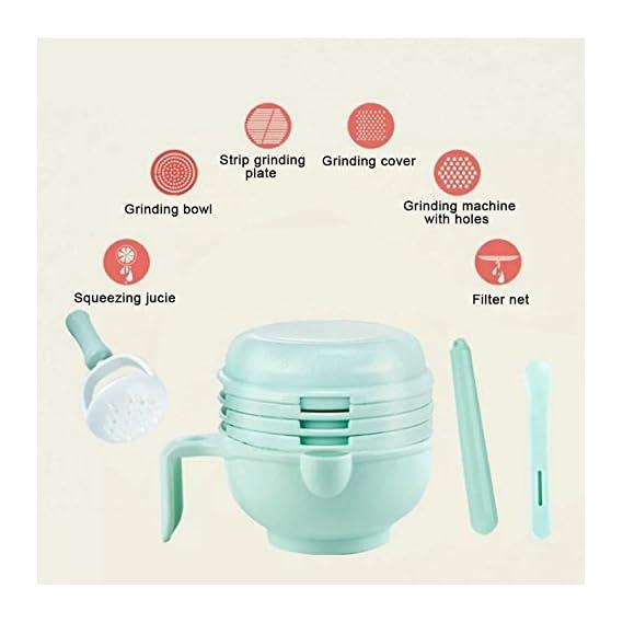 Skudgear 8-in-1 Baby Food Masher + Baby Food Serve Bowl + Baby Food Sieve + Juice Maker + Food Grater + Baby Sensitive