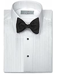 Mens Tuxedo Shirt Poly/Cotton Laydown Collar 1/4 Inch Pleat
