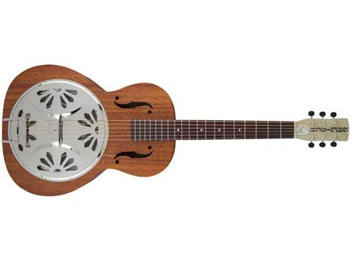 Gretsch G9200 Boxcar Round-Neck, Mahogany Body Resonator - Natural, Padauk Fingerboard by Gretsch