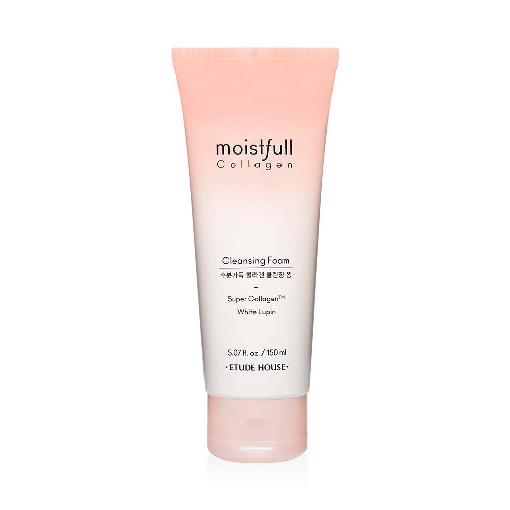 ETUDE HOUSE Moistfull Collagen Cleansing Foam 150ml (Renewal) | Facial Cleanser | Moist and bouncy bubble foam cleanser moisturizes skin | Skin Cleanser