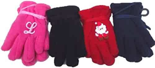 Baby Set of Four One Size Stretch Microfiber Lined Magic Mittens for Ages 0-6 Months
