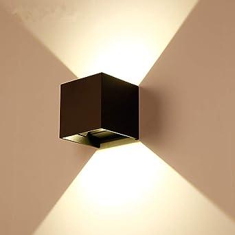 Aaedrag LED Luz de pared Arriba Abajo Lámpara de pared Exterior Interior Blanco cálido 5W Ángulo de haz ajustable for pasillo Sala de estar Dormitorio Jardín Verde Naranja Focos de pared: Amazon.es: