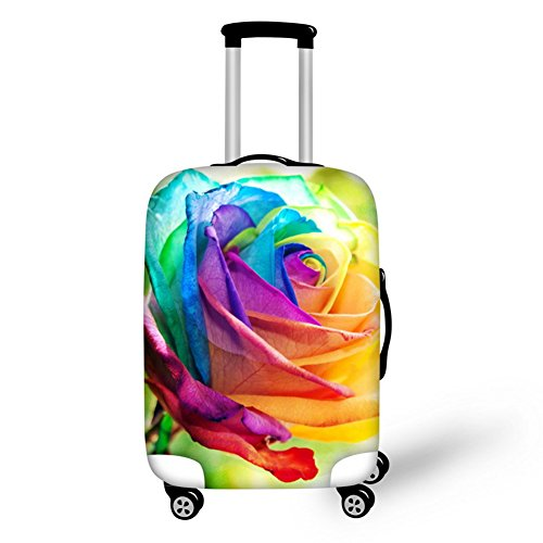 CHAQLIN Colorful Floral Durable Luggage Cover for Suitcase