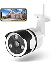 Netvue Outdoor Security Camera, 1080P Outdoor WiFi Camera Waterproof, FHD Night Vision Camera A.I. Motion Detection Home Surveillance, IP Camera with Instant Alert, Two-Way Audio, App Remote & Cloud Storage/SD Slot, Compatible with Alexa (White)