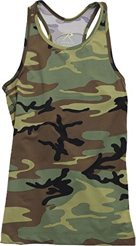 (Womens Woodland Camouflage Performance Military Tank Top)