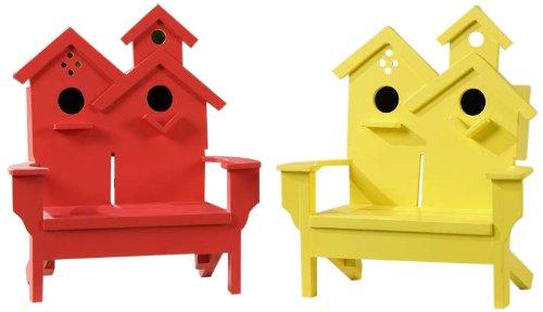 Gift Craft 7-Inch MDF Adirondack Chair Birdhouse Designs, Small
