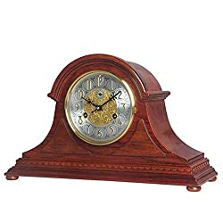 Desk Clock Mechanical Solid Wood Ornaments Fashion Living Room Table Rosewood