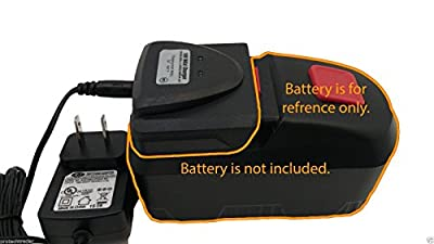 Drill Master 18v Battery Charger 68420 - New 2015 Automatic Charging System Charges 18 Volt DrillMaster Batteries 68413/69651/68287/68239/