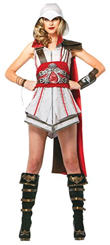 UHC Women's Assassin's Creed Ezio Outfit Adult Fancy Dress Halloween Costume, M (Ezio Halloween Costume Cheap)