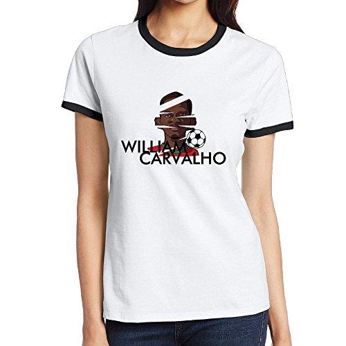 [NINJOE Women's Cotton Famous Football Player Running T-Shirt Black M] (Dead Football Player Costume)
