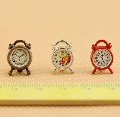 1:12 Dollhouse Miniature Furniture Accessories Flora Alarm Clock Non-working ~