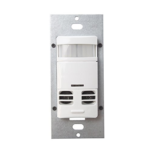 Cooper Controls OSW-DT-0601-MV-W Greengate 120-277-Volt Dual Tech-PIR Wall Switch Sensor, with Neutral Wire, White Finish