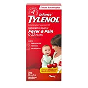 Tylenol Infant Fever, Teething and Pain Reliever for Baby, Cherry Suspension Medicine, 24mL