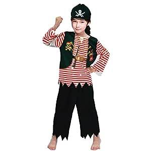 Partilandia Disfraz Pirata Rayas Rojas Infantil para Carnaval (2-4 ...