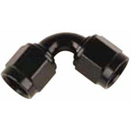 -10 AN Fragola Aluminum 90 Degree Tube Style Female Coupler Black